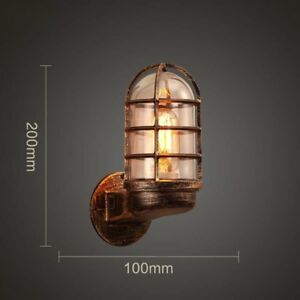 Vintage Industrial Unique Wall Light Iron Rustic Copper Steampunk Lamp Sconce UK