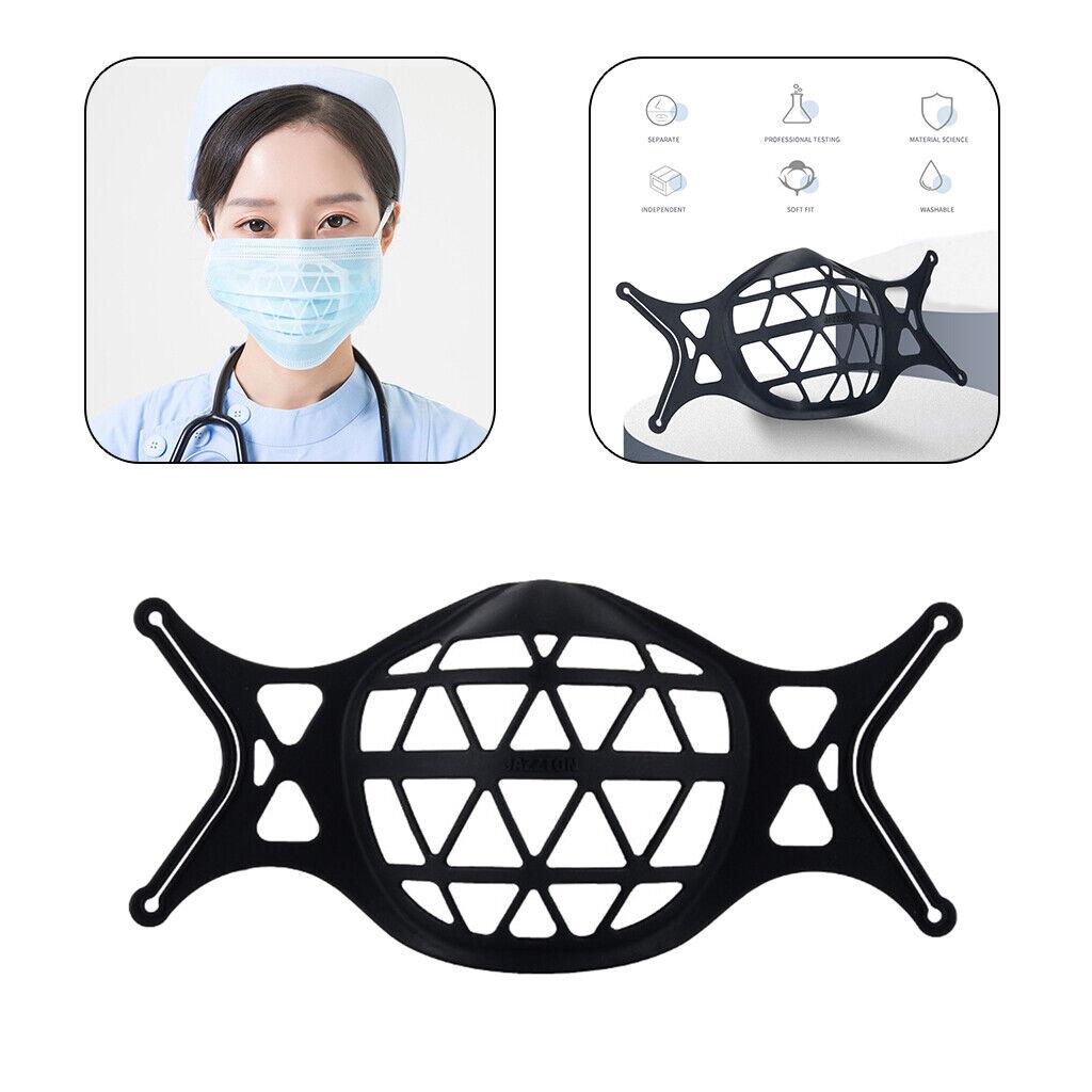 3D Mask Bracket Inner Support Frame Protect Lipstick for Cool Mask Black