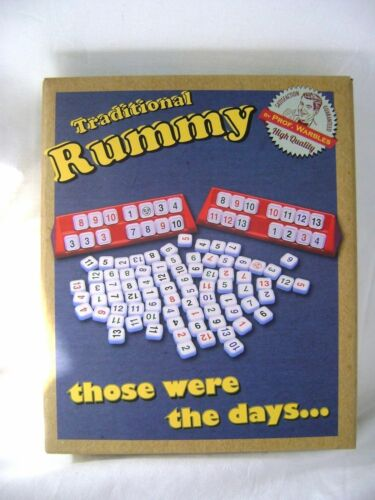 NEW RUMMY TRADITIONAL GAME TILES STICKERS RACKS NUMBER SEQUENCES GAMES ACK