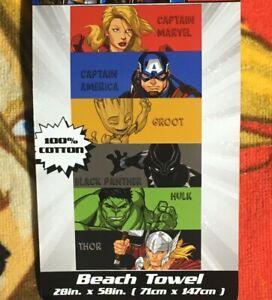 Marvel Avengers Vengeance 28 x 58 Cotton Beach Towel Soft Swimming Pool Bath
