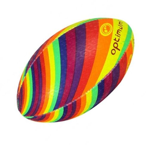 Optimum Rugby Ball 'Rainbow' size 3, 4 and 5 Multicoloured NEW!