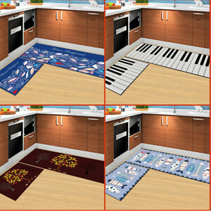 Image is loading Kitchen-Mat-Washable-Rectangle-Non-Slip-Kitchen-Rug- & Kitchen Mat Washable Rectangle Non-Slip Kitchen Rug Bedroom Floor ...