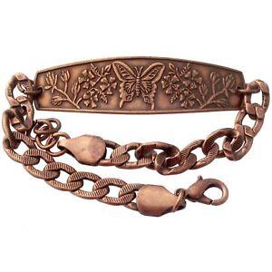 Solid-Copper-Bracelet-Butterfly-Swallowtail-Handmade-Jewelry-Gift-Arthritis-Pain