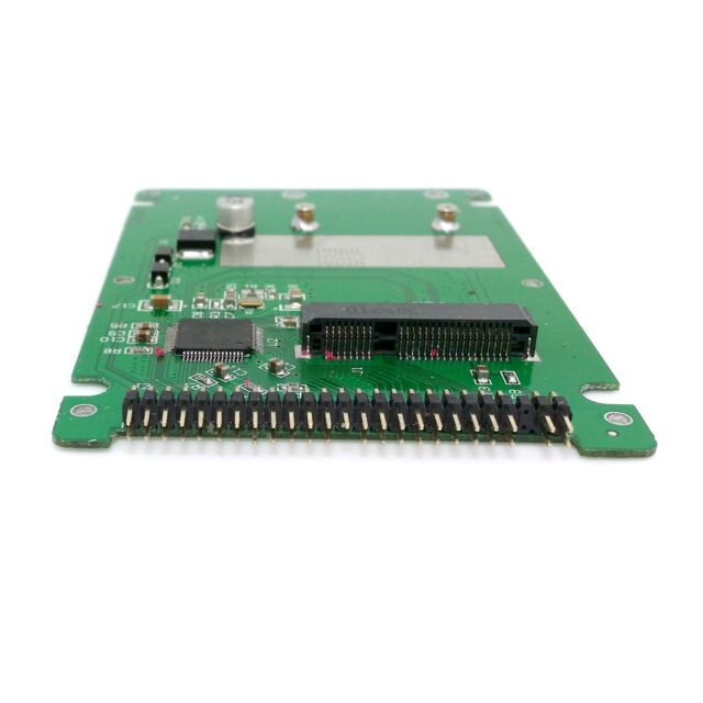mSATA mini PCI-E SATA SSD to 2.5 IDE 44pin Notebook Laptop hard disk case White
