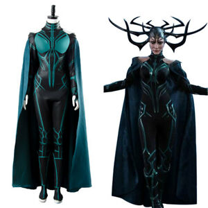 Cosplay-The-Avengers-Thor-3-Ragnarok-Hela-Suit-Cape-Costume-Outfit-Jumpsuit-Gown