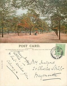 s10909-The-Mall-London-England-postcard-posted-1909-stamp