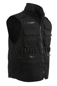 SWAT-Sheriff-Police-Black-Tactical-Fishing-Hunting-Hiking-Ranger-Vest-Hood-7557