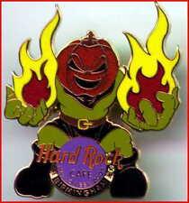 Hard Rock Cafe BIRMINGHAM 2001 HALLOWEEN PIN Pumpkin Head Monster with Flames!