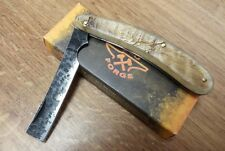 Old forge Rams Horn Handle straight razor Folding blade knife