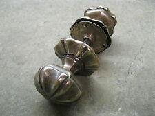 Pair Original Reclaimed Heavy Solid Brass Copper/Bronze Front Door Knobs 0191