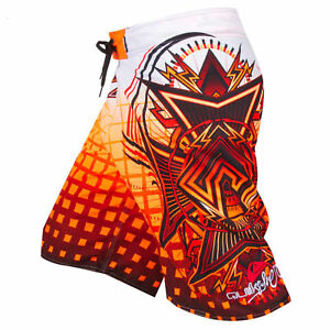 Men-039-s-Quiksilver-BoardShorts-Quick-Dry-Orange-Black-and-White-Sizes-30-38