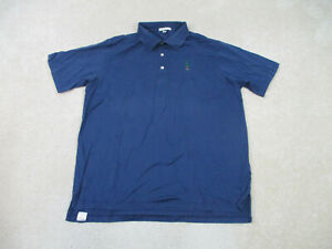 Peter-Millar-Polo-Shirt-Adult-Extra-Large-Blue-Green-Casual-Rugby-Golf-Mens-B54