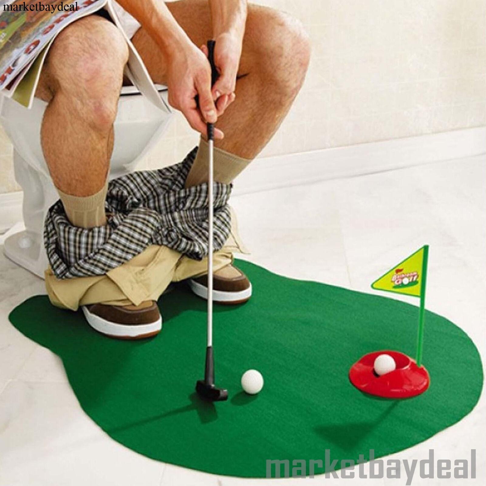Funny Toilet Mats Kids Golf Toys Rugs Fun Bath Play