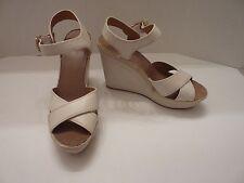 Vince Camuto 'Edon' Ivory Leather Wedge Sandal Size: 9 1/2 B