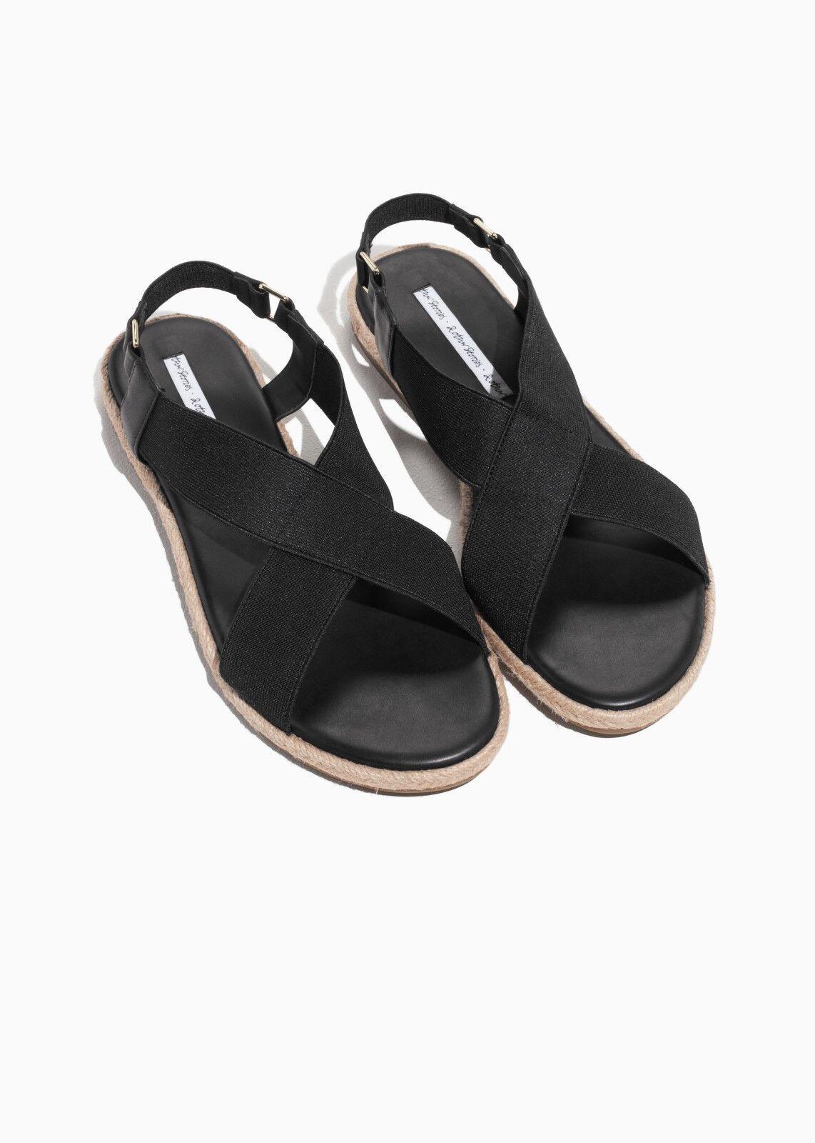 & altre storie sandali cinturino incrociate-progettato in Paris-Nero-EU 41