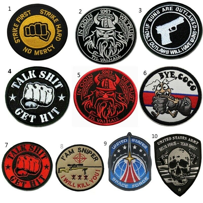 Badge Patch Tactical Military Army Embroidery Hook Patches Clothes Accessories Crafts