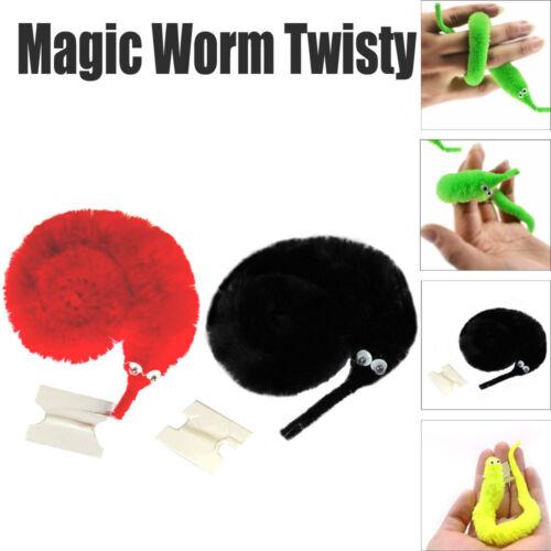 Adorable Funny Twisty Trick Toys Plush Magic Worm Fuzzy Worm Kids Trick Toy Gift