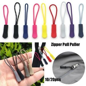 M/&C  10x Zipper Pulls Cord Rope Ends Lock Zip Clip Buckle for Clothing Bags、Pop