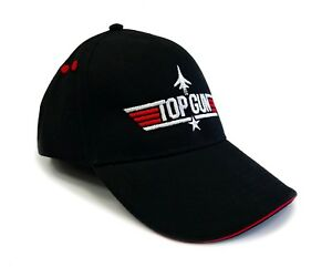 Image is loading TopGun-Red-Contrast-Embroidered-Pilot-Baseball-Cap-Top- e2e1a8847382