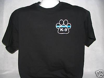 Blue Line,,,,,,XL Blue Line K-9 Gold Paw Print T-Shirt