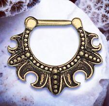 Hera   Antique Septum Jewelry Gold Cartilage Earring Vintage Ear Piercing Rings
