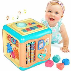 6 en 1 Multifonction Activity Cube Bébé Jouets Pour 12-18 mois musical