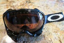 Oakley A Frame 1.0 Snow Goggles Black Frame w/ Lens Tint VR28 Ski Snowboard