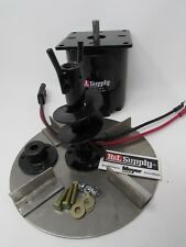 item 6 meyer & buyers salt spreader electric spinner motor hub, wiring,  auger, disk -meyer & buyers salt spreader electric spinner motor hub, wiring,  auger,