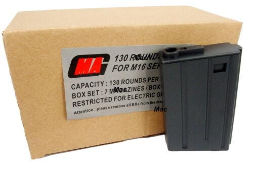 7pcs Boxset 130round Plasctic VN Magazine for M Series Airsoft MAG