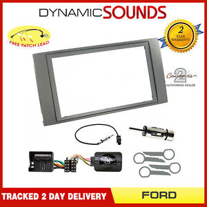 Car-Stereo-Double-Din-Fascia-Steering-Interface-Kit-for-Ford-Galaxy-2006-Onwards