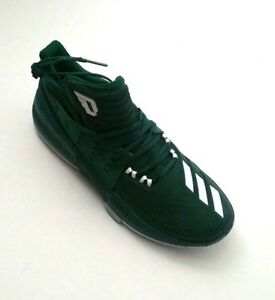 outlet store 4e622 8febe Image is loading Adidas-Men-Dame-3-BY3194-Green-Basketball-Shoes-