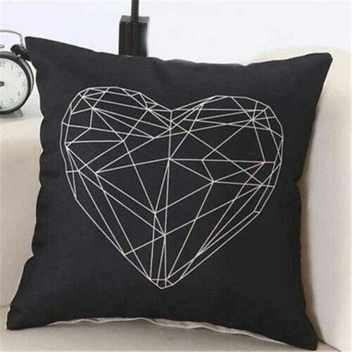 Simple Square Cotton Linen Throw Waist Pillow Case Sofa Cushion Cover Decoration