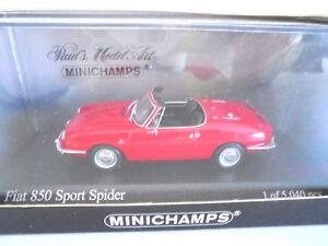 1/43 . FIAT 850 Sport Spider    MINICHAMPS
