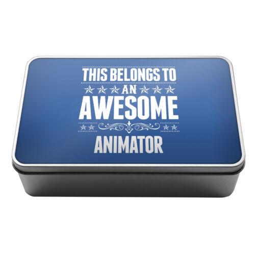Cela appartient à une impressionnante animateur de conservation en métal tin box 007
