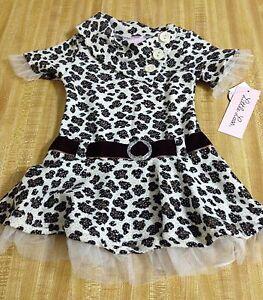 49d19f8fdad48 Little Lass Infant Toddler Girls Leopard Print Ruffle Dress Leggings ...