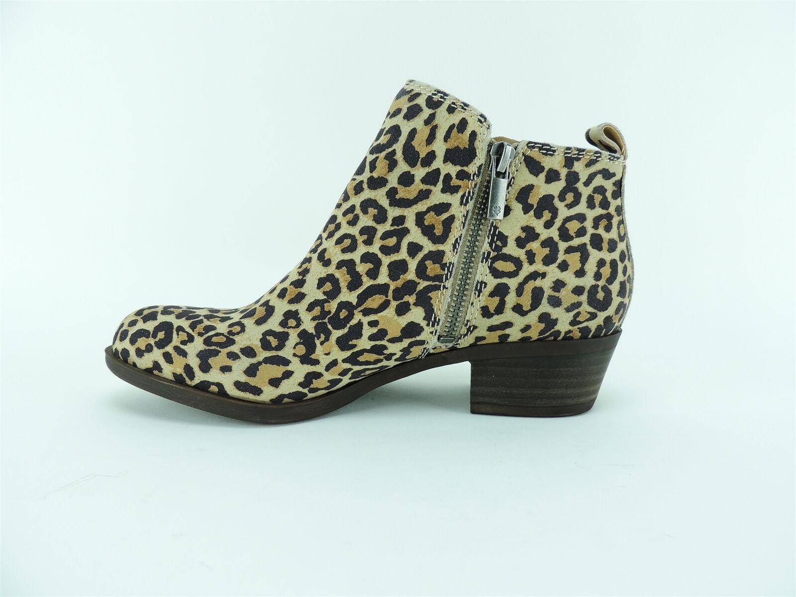 Lucky Brand Women's Basel Booties Natural Leopard Size 5.5 M M M 97751d