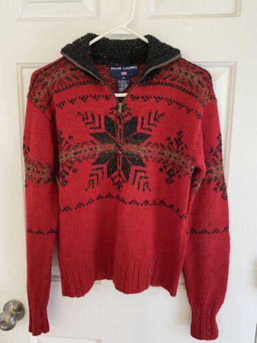 EUC Vintage Ralph Lauren Polo Sport Winter Mock Zi