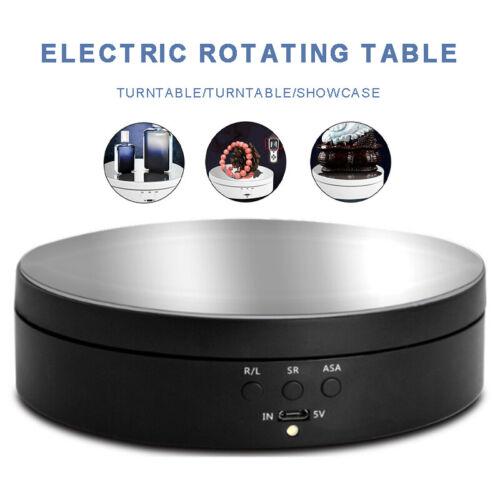 USB 360° Elektrischer Drehteller Präsentierteller Drehbühne Schmuck Drehanzeige