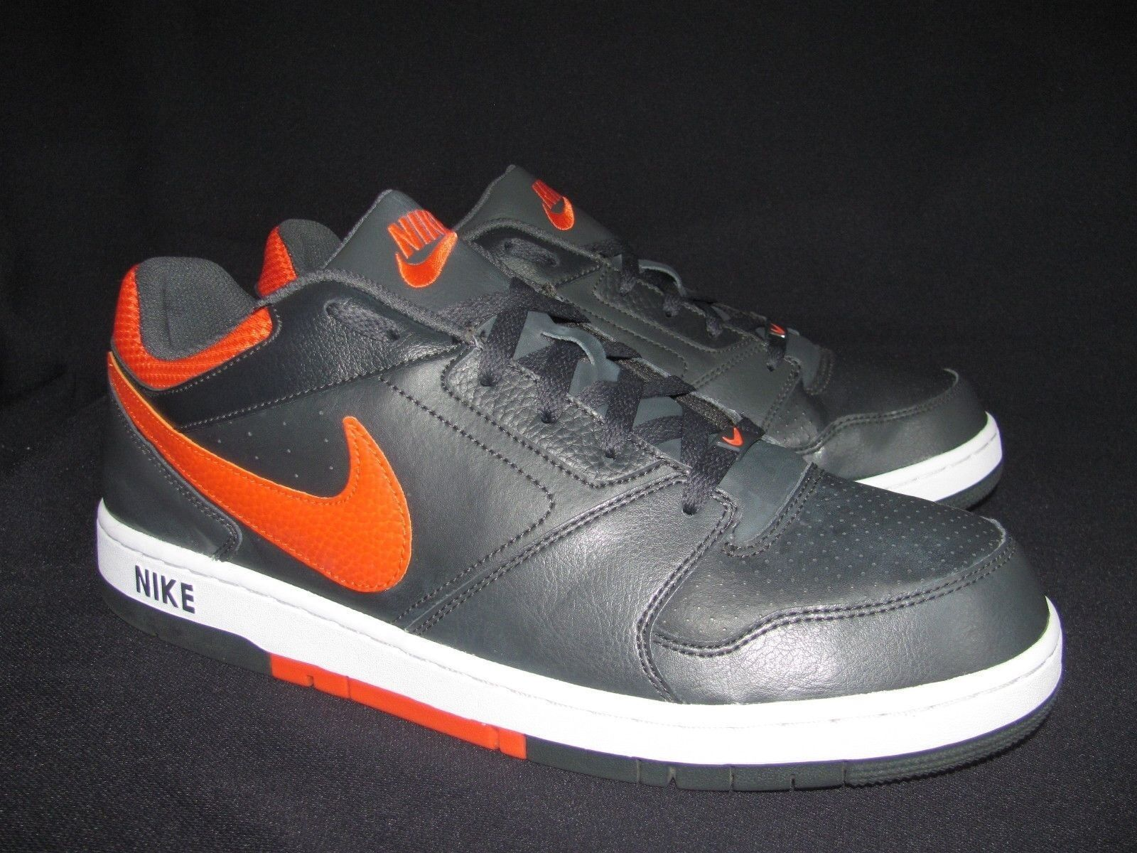 Nike Prestige IV Low  488428 081  Red Charcoal Gray Sneaker Shoes US 13