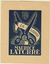 EX-LIBRIS MAURICE LATORRÉ DESSINÉ PAR MARCEL LUQUET - AUCH GERS GASCOGNE