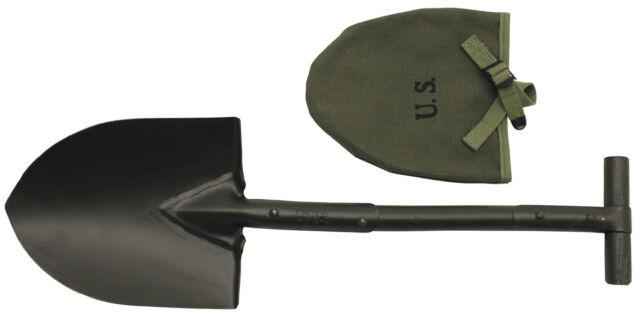 Holzstiel Schaufel Armeespaten Campingspaten Army Spaten mit T-Griff u