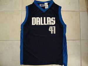 51e2202ce NBA Dallas Mavericks Basketball Fan Dirk Nowitzki  41 youth Jersey T ...