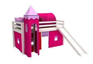 Letto per bambini con scivolo cameratta bambino letto letto a castello 90x200cm ebay - Letto castello scivolo ...