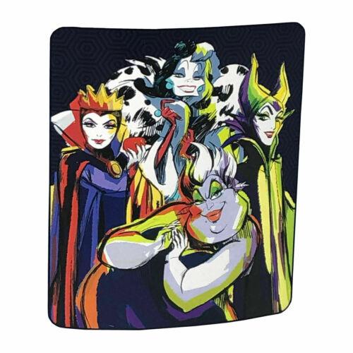 Disney Villains Throw Soft Blanket Ursula Evil Queen Maleficent Cruella De Vil