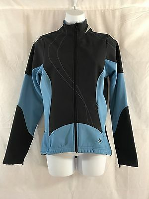 2019 Fashion Euc Specialized Women's M Cycling Stretch Full Zip Jacket Nylon/spandex Blu/blk Factory Direct Selling Price Activewear Activewear Jackets