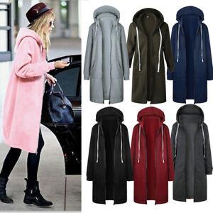 Women-Long-Sleeve-Zip-Up-Hooded-Hoodie-Jacket-Jumper-Cardigan-Coat-Plus-Size