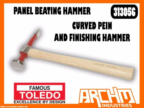 TOLEDO 313056 PANEL BEATING HAMMER CURVED PEIN AND FINISHING HAMMER