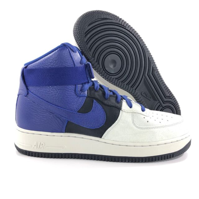 best cheap 1009d e5a7b Nike Air Force 1 High '07 LV8 Platinum Grey Blue Black 806403-009 Men's 9-11
