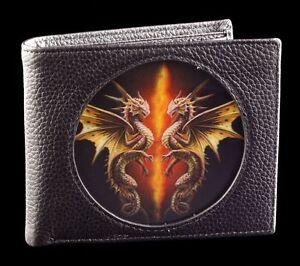 Men-039-s-Wallet-Black-With-3D-Dragon-Desert-Dragons-By-Anne-Stokes-Fantasy