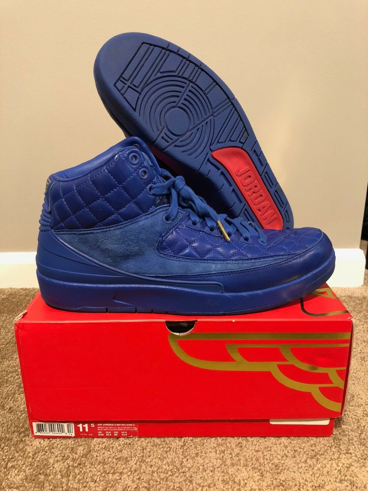 Air Jordan 2  Just Don C bluee  717170-405 Size 11.5 USED
